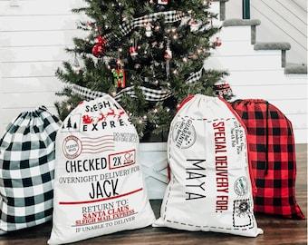 Christmas Santa Sack / Personalized Gift Bag