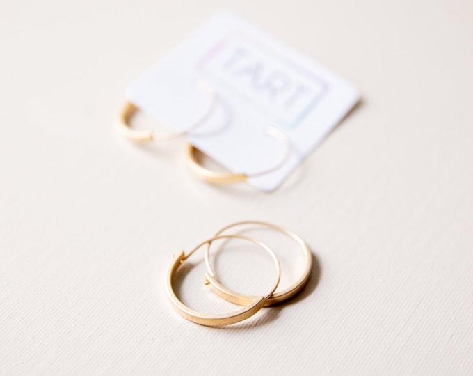 Everyday Hoops / Minimalist Gold Earrings