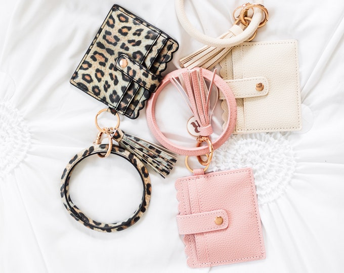 Wallet Wristlet Keychain / Key Ring Bangle