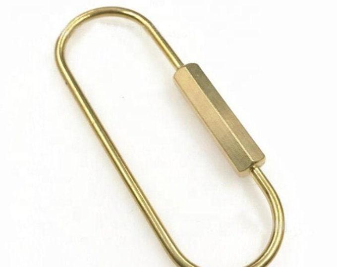 Minimilist Brass Keychain