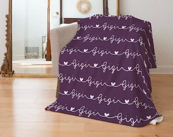 Mothers Day Blanket / Minky Soft Blanket for Grandma, Mom, Gigi