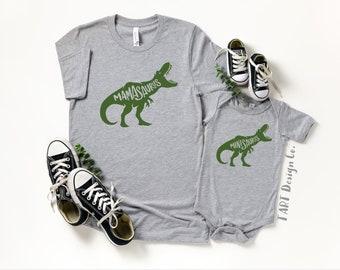 Mamasaurus and Minisaurus / Mommy and Me Set / Dinosaur Shirts