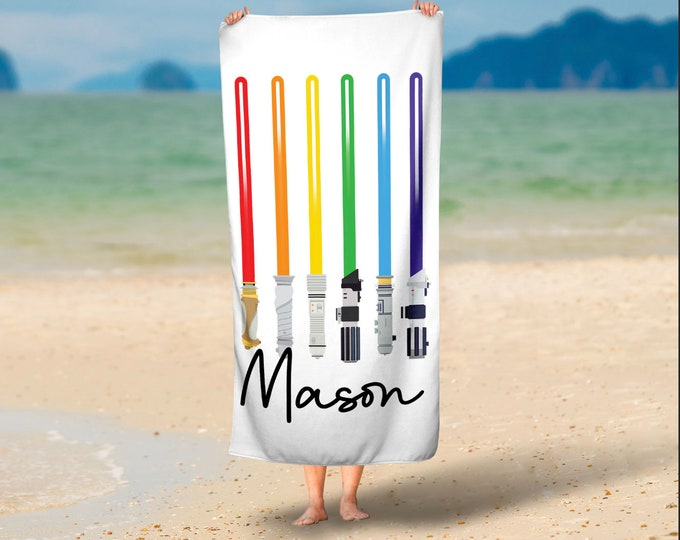 Laser Sword Beach Towel for Adults or Kids