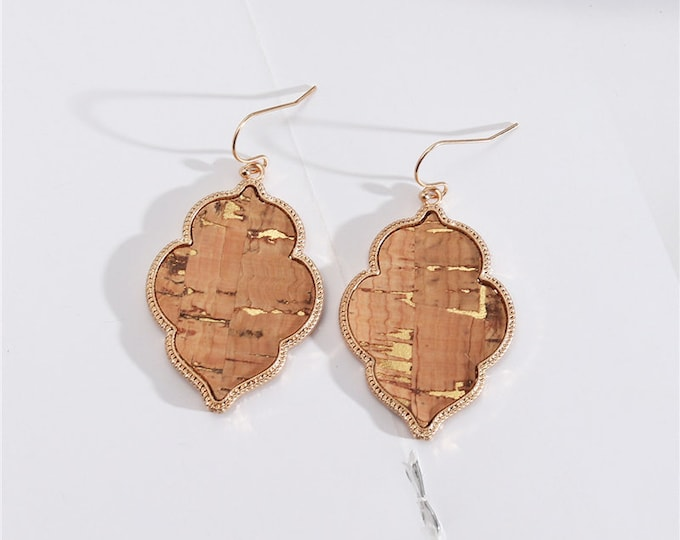 Bohemian Cork Dangle Earrings