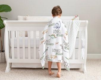Baby Minky Blanket / Cursive Name Infant Blanket