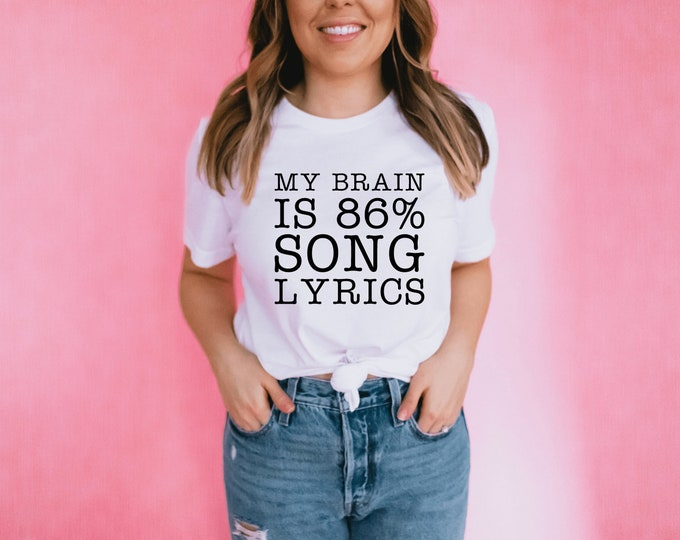 My Brain is Song Lyrics / Karaoke Tee Shirt