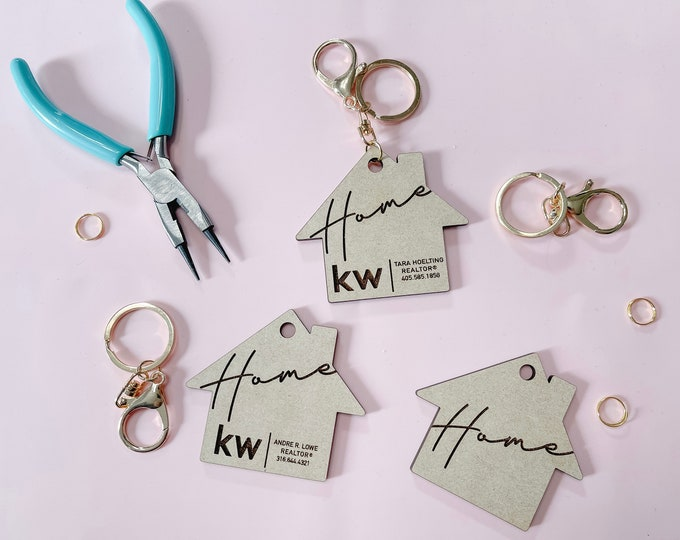 Personalized New Home Keychain / Realtor Client Gift