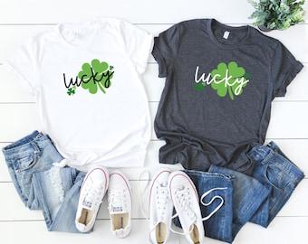 St Patricks Day Shirt / Lucky / Shamrock / St Paddys/ Fake Pattys