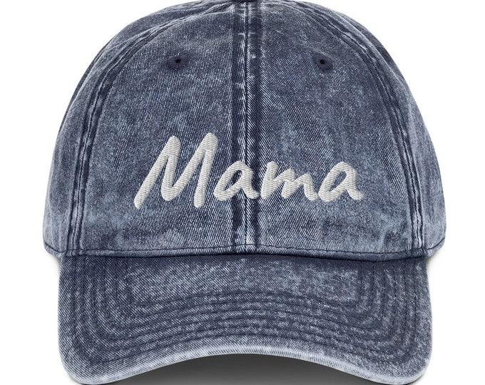 Vintage Style Mama Baseball Hat / Cute Womens Cap