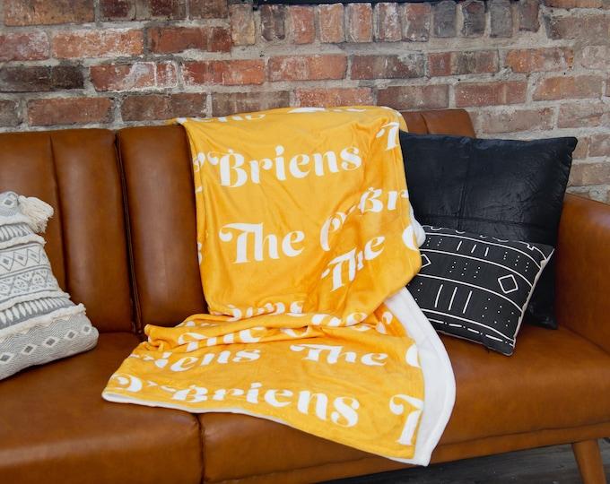 Last Name Family Blanket / Real Estate Closing Gift