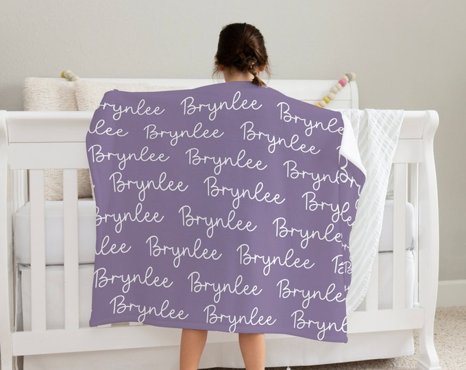 Soft Baby Blanket / Soft Minky Blanket Personalized with Name for Infants / Baby Shower