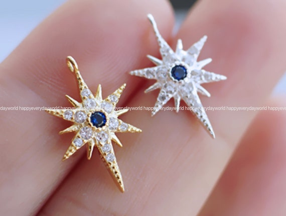 Butterfly Cubic Pendant 12.5x9mm Connector 14k gold plated Cubic Crystal earring Zirconia earring making Findings Craft Supplies ys812-4