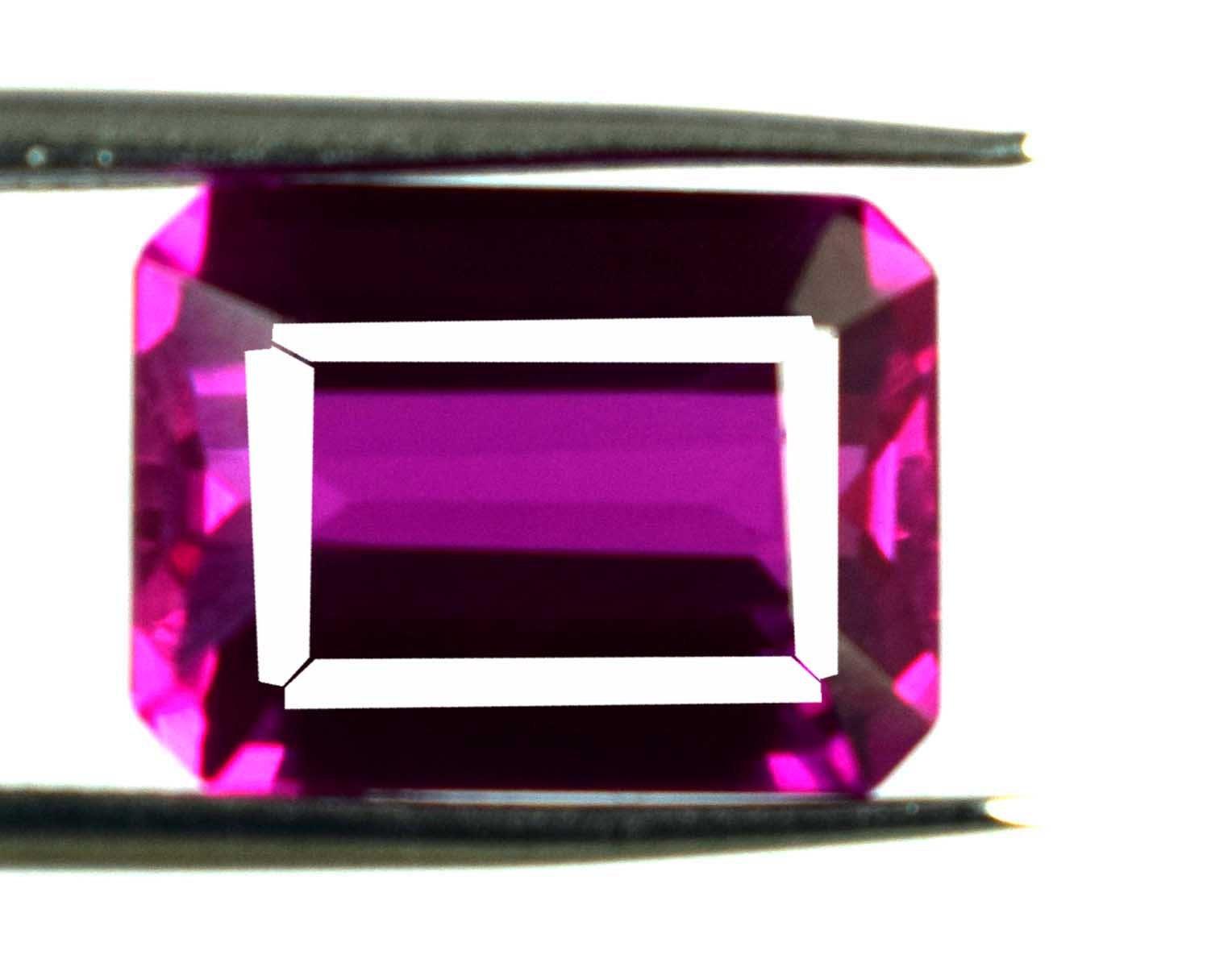 100 % % % naturel Malaya rose grenat pierres précieuses en vrac Ct 9,70 AGSL certifié octogone coupe Super Sale D312 ab2473
