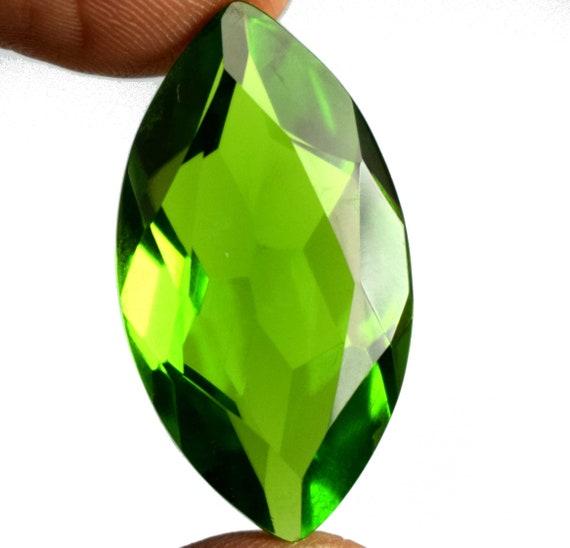 25.20 CT. certifié Marquise brésilien Vert Olive péridot pierres précieuses en vrac Super Sale