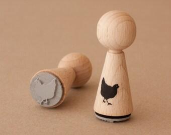 Chicken stamp cone
