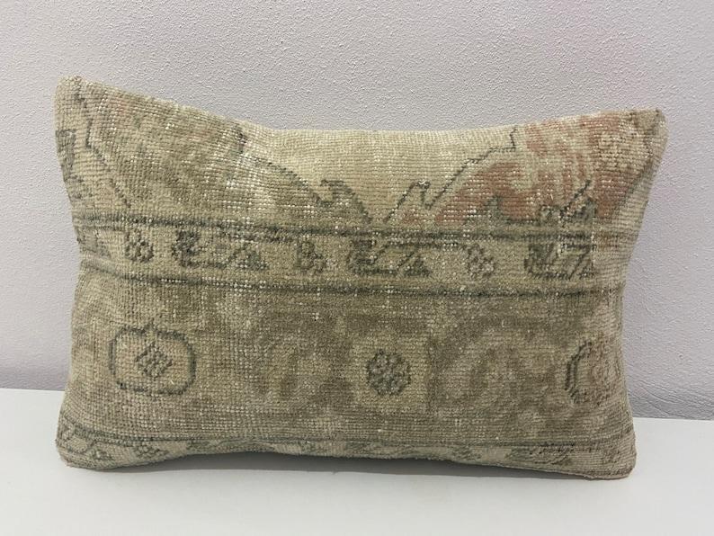 cushion cover pillows 38 x 59 cm  15 x 24 inc Vintage rug pillow wool carpet pillow Turkish rug pillow decorative cushions