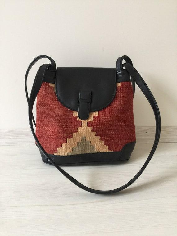 turkish kilim bag,9x12 inc,28x30cm,otantic bag,sho