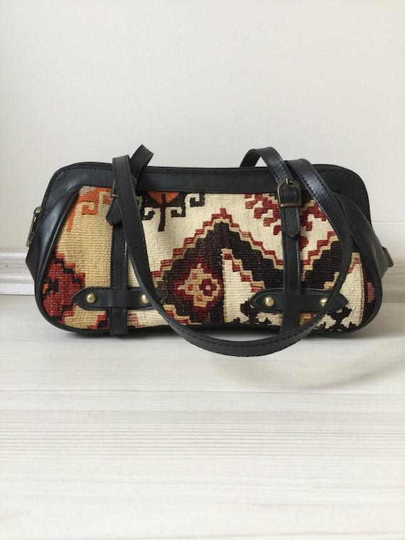 turkish kilim bag,14x6 inc,34x16cm,otantic bag,sho