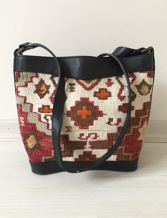turkish kilim bag,9x11 inc,23x28cm,otantic bag,sho