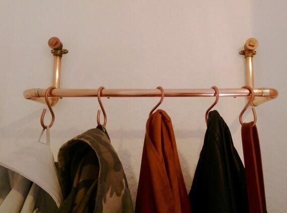 Garderobe Kupfer clean minimalistische garderobe aus kupfer | etsy