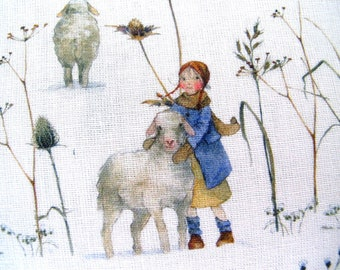 Fabric Winter Children Sheep Daniela Drescher acufactum