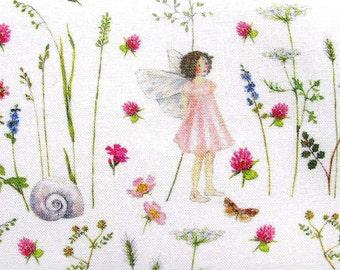 Fabric Elves pink Daniela Drescher acufactum