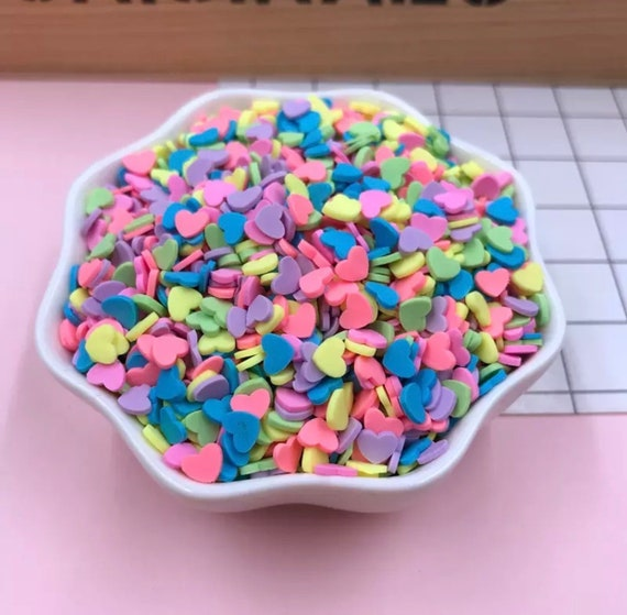 50 grams sprinkles mix, sprinkles for slime, bow sprinkles, fake food  sprinkle toppings,rainbow synthetic sprinkles,dessert confetti supply