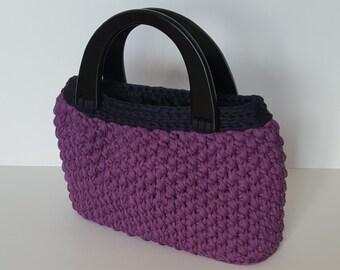 Handtasche Mit Rüschen Textilgarn Gehäkelt Etsy