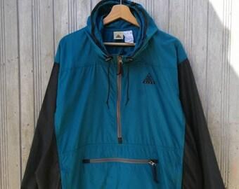 4be67a565e RARE!!! Vintage Nike ACG Windbreaker Hoodie Jacket Medium Size