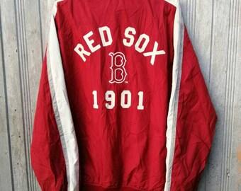 Vintage BOSTON RED SOX Windbreaker Jacket Xlarge Size f30279887d5