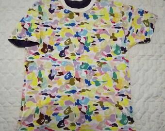 49a6e595 Bape A Bathing Ape Camouflage Candy Colour Reversible Tshirt