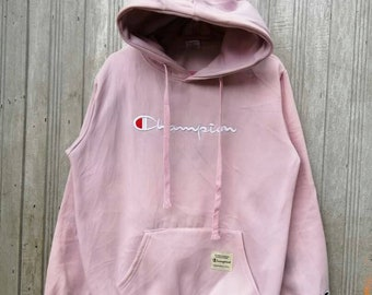 2efaa5feb7b3 Vintage CHAMPION Hoodie embroidery Big Logo Medium Size