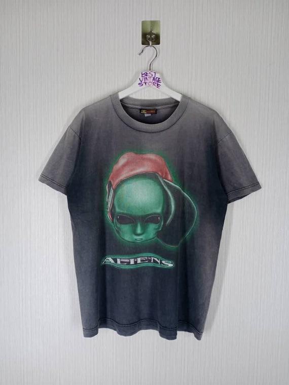 Rare!!! Vintage 90s Alien Workshop Big Logo Tshirt