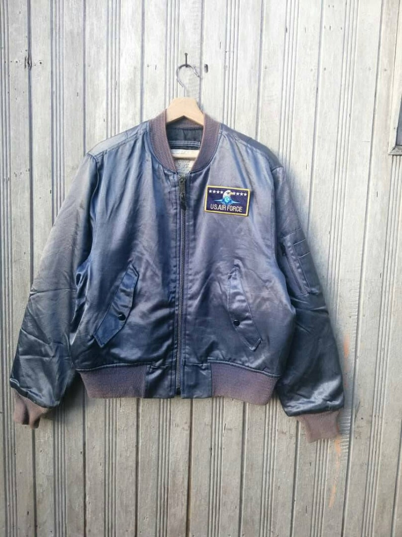45fa9974ccfc0 Rare!!! Vintage Flight Jacket US AIR FORCE Size 42 Made in Usa