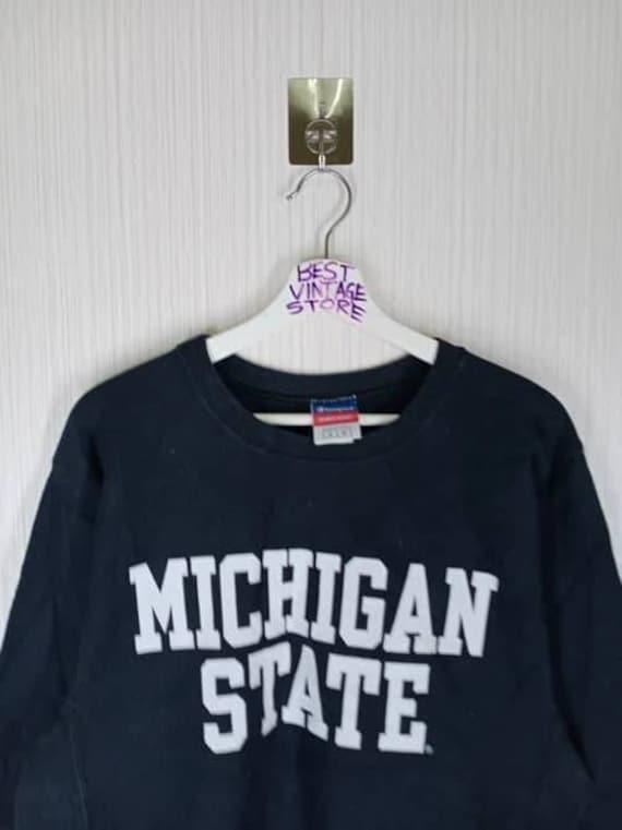Vintage 90s Champion Reverse Weave Michigan State… - image 2