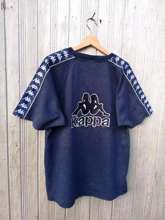 f2281af76f RARE Vintage KAPPA Sidetape Big Logo Embroidery Tshirt | Etsy