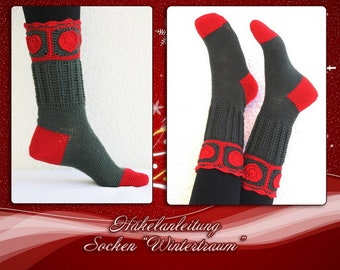 Pdf Häkelanleitung Socken Fuchs Gr 34 43 Etsy