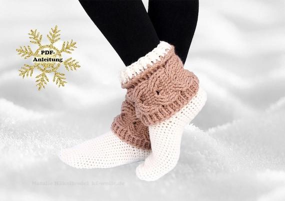 Pdf Häkelanleitung Socken Impression Gr 34 43 Etsy