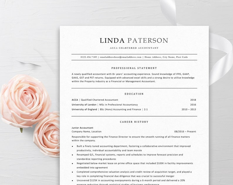 Resume Template Traditional Classic