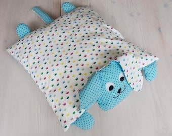Cuddly pillow. Dog pillows. Crown - Turquoise Blue