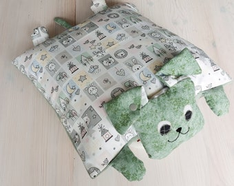 Cuddly pillow. Dog pillows. Funny Animals Reed Green