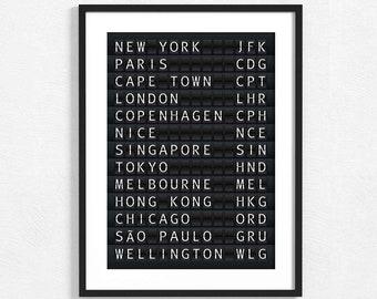 Personalised Holiday Locations Pencil Case New York Las Vegas Rome Paris Italy