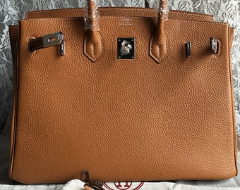 891dd220310d Top Handle Bag Shoulder Bag BIRKIN 30 Leather Bag Leather Classic Handbag  Tote Bag-Materials original Leather Cowhide Silver Hardware