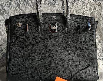 dedf22fc545b Birkin 30 handbags Color Black Hardware Silver Materials original Leather  Cowhide