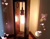 Retrolamp Lantern of Wooden Light Design