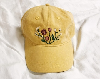 00db4b6b Floral Embroidered hat