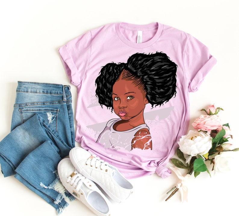 92d9f484 Big Kids Black Girl Magic Shirt Afro Puffs Queen in Training | Etsy