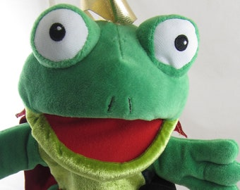 Frog Prince Glove Puppet and Finger Puppet Set Age 3+