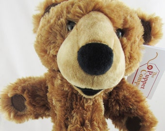 Brown Bear Glove Hand Puppet - Curly Plush Fur - New with Tags