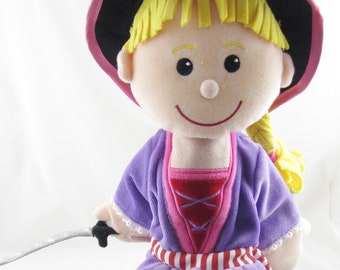 Girl Pirate Hand Puppet New with Tags
